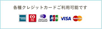各種クレジットカードご利用可能です